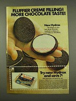 1973 Hydrox Hydrox Cookies Ad - Fluffier Filling