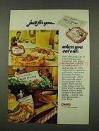 1973 Kraft Ad - Blue Cheese Dressing, Grape Jelly