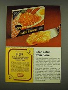 1973 Ore-Ida Hash Browns Ad - Good Eatin'