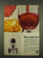 1973 Welch's Grape Juice Ad - Have a Grape Day