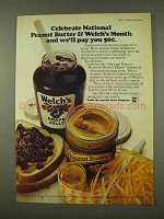 1973 Welch's Grape Jelly Ad - National Peanut Butter