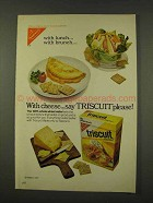 1973 Nabisco Triscuit Crackers Ad - With Cheese Please