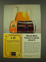 1973 Minute Maid Orange Juice Ad - No Doubt About