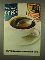 1973 Taster's Choice Coffee Ad - Only Your Cup Knows