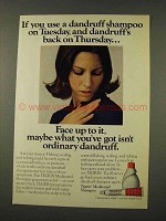 1973 Tegrin Medicated Shampoo Ad - If You Use