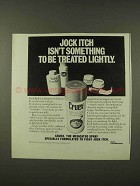 1973 Cruex Spray-On Powder Ad - Jock Itch