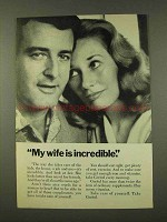 1973 Geritol Vitamins Ad - Wife is Incredible