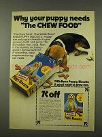 1973 Milk-Bone Puppy Biscuits Ad - The Chew Food