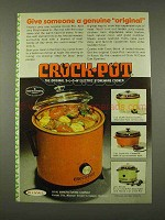 1973 Rival Crock-Pot Ad - Give Someone Genuine Original