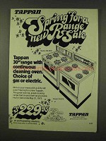 1973 Tappan Ranges Ad - Model Z30-2532 and 31-2512