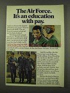 1973 U.S. Air Force Ad - An Education With Pay