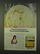 1973 Sears Lady Kenmore Freedom Maker Dishwasher Ad