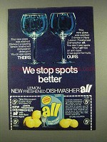 1973 Dishwasher All Detergent Ad - We Stop Spots Better