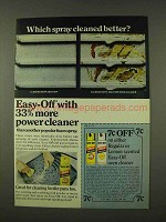 1973 Easy-Off Oven Cleaner Ad - Which Cleaned Better?
