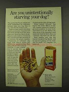 1973 Jim Dandy Dog Ration Ad - Starving Your Dog?