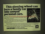 1973 GM Saginaw Tilt-Wheel Steering Ad - Can Turn