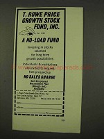 1973 T. Rowe Price Growth Stock Fund Ad