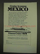 1973 Princess Cruises Advertisement - Cruise to Sunny Mexico
