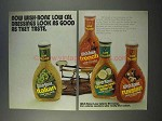 1973 Wish-Bone Low Cal Dressing Ad - Look as Good