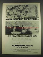 1974 Bloomington Minnesota Ad - Giants Hit Their Stride
