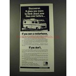 1974 White Motor Discoverer Motorhome Ad - Think About