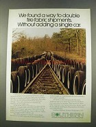 1974 Southern Railway Ad - Double Tire Fabric Shipments