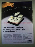 1974 Canon MP1000 Calculator Ad - Adding Addicts