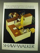1974 Shaw-Walker Modular Work Stations Ad