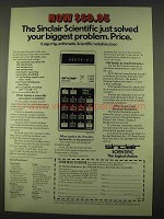 1974 Sinclair Scientific Calculator Ad - Solved Problem