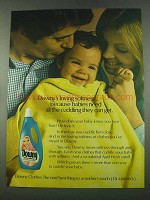 1974 Downy Fabric Softener Ad - Babies Need Cuddling