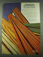 1974 Sears Aquarius Draperies Ad - The Textured Weave