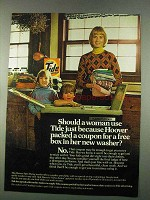 1974 Tide Detergent Ad - Hoover Put Coupon in Washer