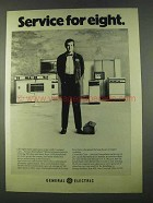 1974 General Electric Appliances Ad - Service for Eight