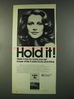 1974 Wella Care Do Ad - Hold It!