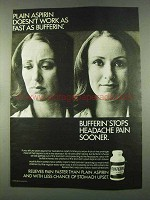 1974 Bufferin Medicine Ad - Plain Aspirin Doesn't Work