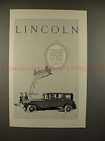 1926 Lincoln Five Passenger Sedan Car Ad - NICE!!