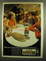 1974 Planters Peanuts Ad - Make Your Holidays Happy