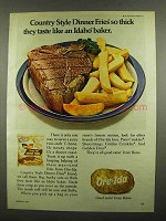 1974 Ore-Ida Country Style Dinner Fries Ad - So Thick