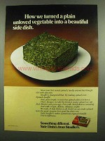 1974 Stouffer's Spinach Souffle Ad - Beautiful Dish