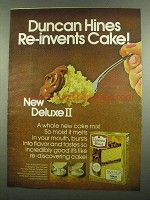 1974 Duncan Hines Deluxe II Cake Mix Ad - Re-invents