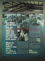 1974 Star Buildings Ad - Production Line Was a Mess