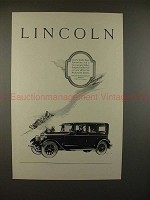 1926 Lincoln Limousine Car Ad - NICE!!