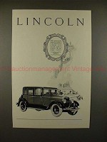 1926 Lincoln 4-passenger Sedan Car Ad - NICE!!