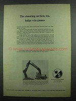 1974 Warner & Swasey 311 Backhoe Ad - Cheering Section