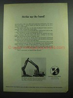 1974 Warner & Swasey 311 Backhoe Ad - Strike Up Band