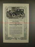 1926 Willys-Knight 70 Six Car Ad - Climaxing 18 Years!!