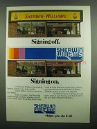 1974 Sherwin-Williams Decorating Center Ad, Signing Off