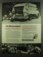 1974 Caterpillar Tractor Co. Ad - The Moneywagon!