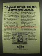 1974 US Independent Telephone Associations Ad - Best