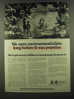 1974 American Electric Power Ad - Environmentalists